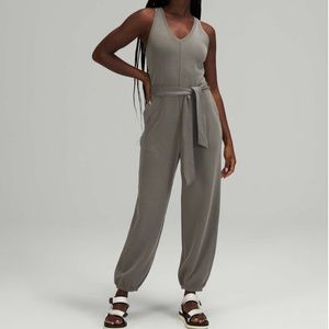 New Lululemon Ease Of It All Jumpsuit Gray Sage 12